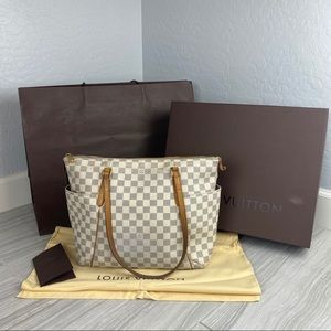 Louis Vuitton Totally MM NM Damier Azur Purse